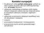 kontekst europejski