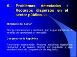 6 problemas detectados recursos dispersos en el sector p blico 2 3