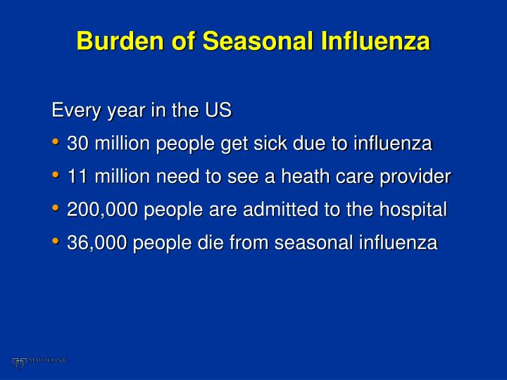 Burden of Seasonal Influenza