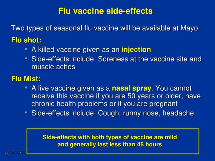 Flu vaccine side-effects