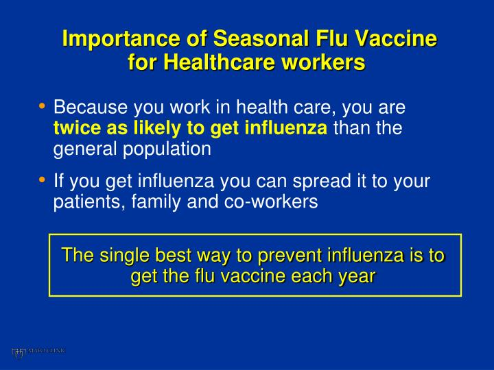 Importance of Seasonal Flu Vaccine for Healthcare workers