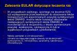 zalecenia eular dotycz ce leczenia rzs10