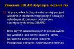 zalecenia eular dotycz ce leczenia rzs13
