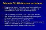 zalecenia eular dotycz ce leczenia rzs14
