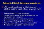 zalecenia eular dotycz ce leczenia rzs2