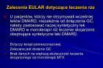 zalecenia eular dotycz ce leczenia rzs4