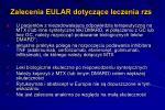 zalecenia eular dotycz ce leczenia rzs8