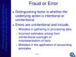 fraud or error