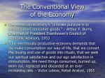the conventional view of the economy