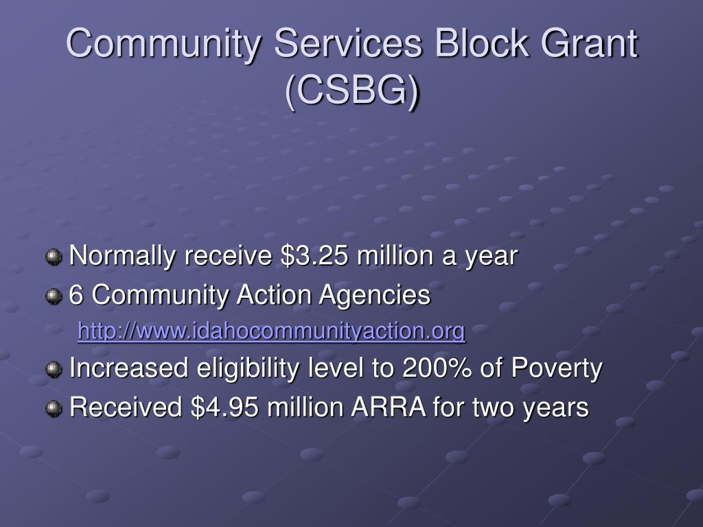 Community Services Block Grant