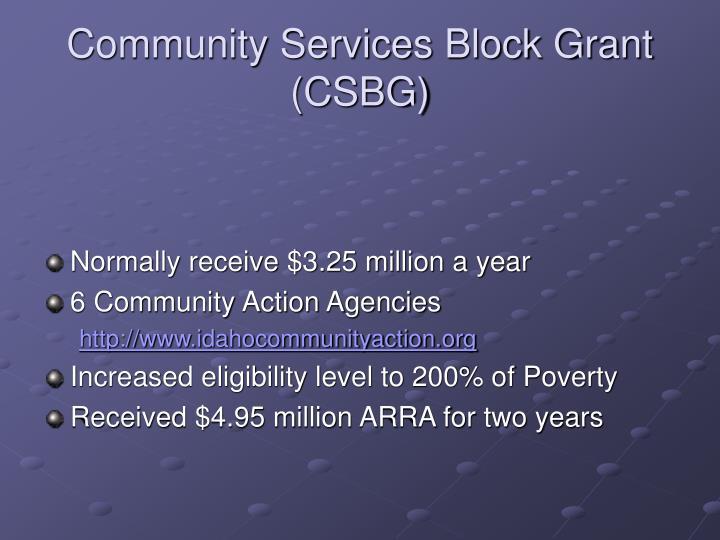 Community services block grant csbg