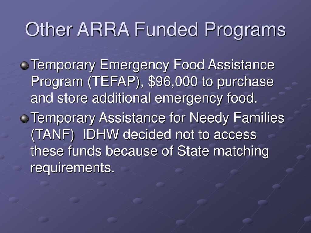 Other ARRA Funded Programs