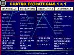 cuatro estrategias 1 a 1