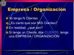 empresa organizaci n