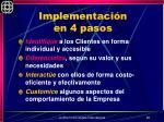 implementaci n en 4 pasos