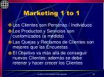 marketing 1 to 1