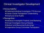clinical investigator development