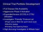 clinical trial portfolio development