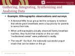 gathering integrating synthesizing and analyzing data14
