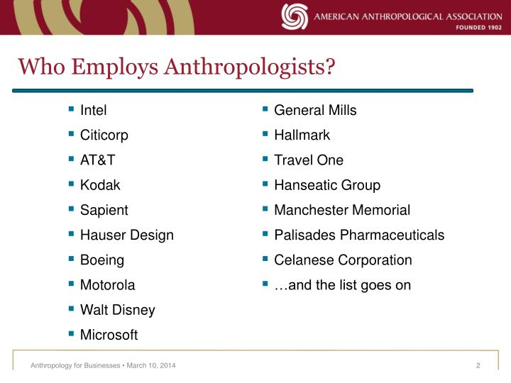 Who employs anthropologists