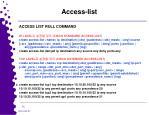 access list1