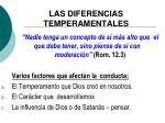 las diferencias temperamentales