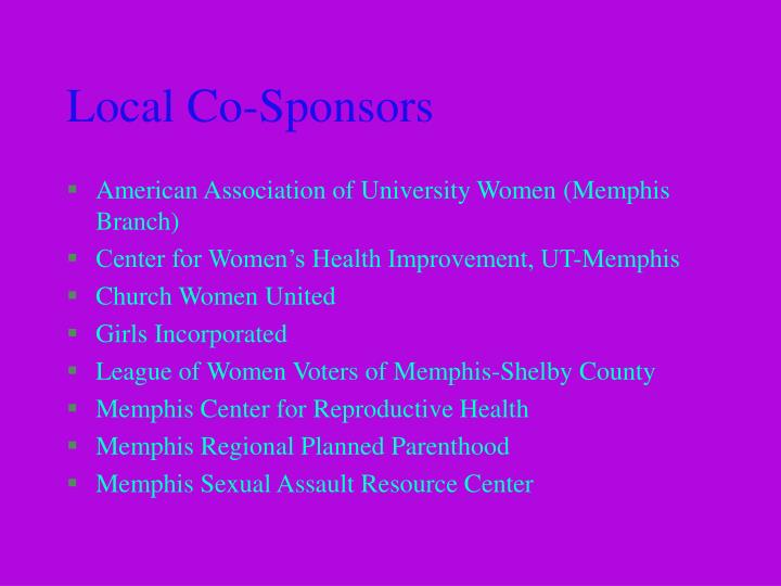 Local co sponsors