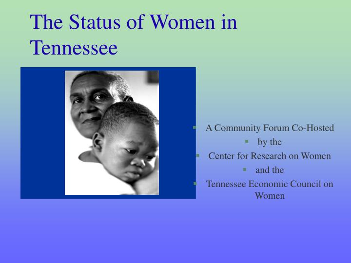 The status of women in tennessee