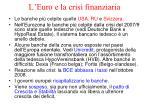 l euro e la crisi finanziaria