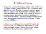 l italia nell euro