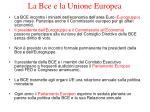 la bce e la unione europea