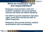 what are employers rights and responsibilities