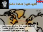 john cabot 1458 1498