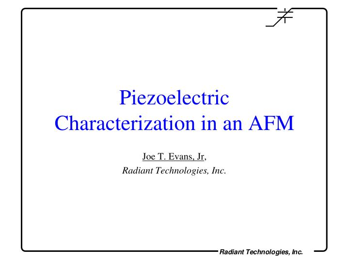 piezoelectric characterization in an afm n.