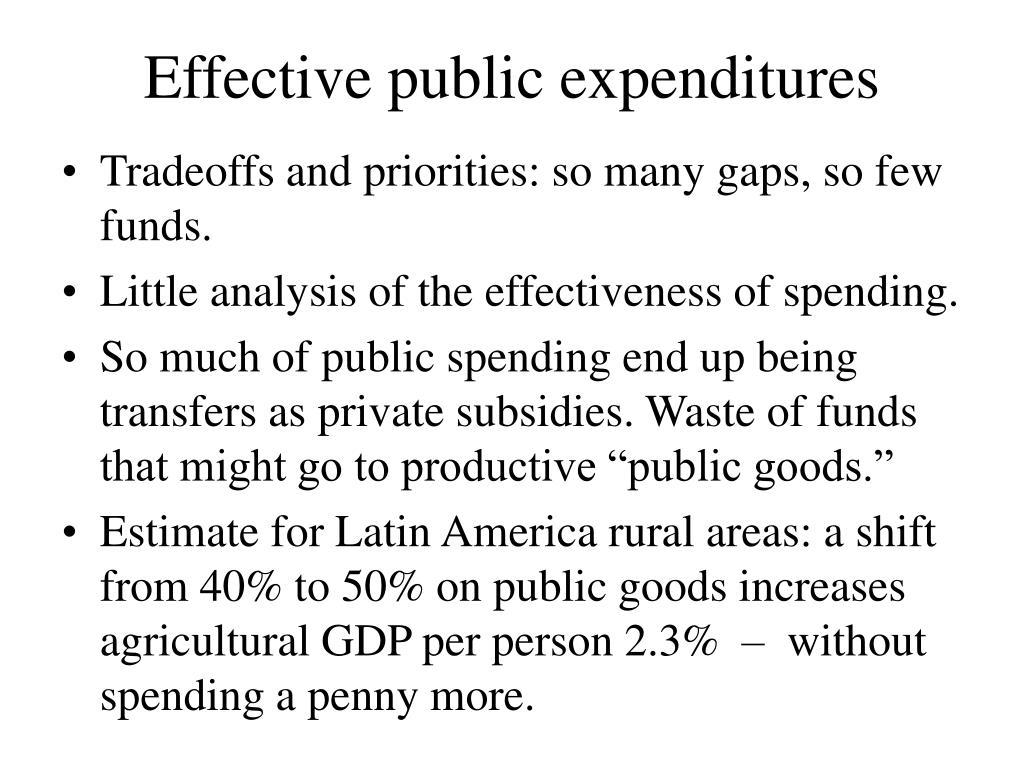 Effective public expenditures
