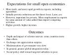 expectations for small open economies