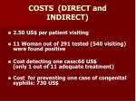 costs direct and indirect