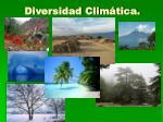 diversidad clim tica