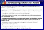 autoritatea de siguranta feroviara rom na
