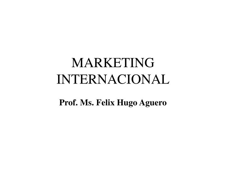 marketing internacional n.
