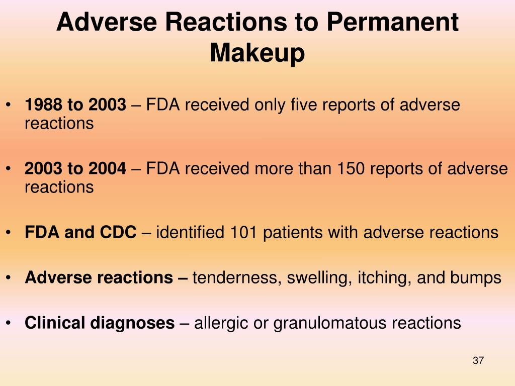 Adverse Reactions to Permanent Makeup