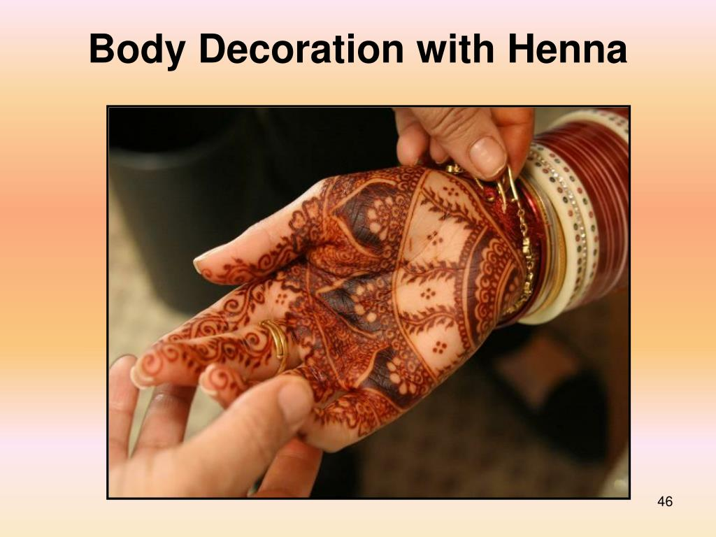 Body Decoration with Henna
