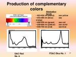 production of complementary colors