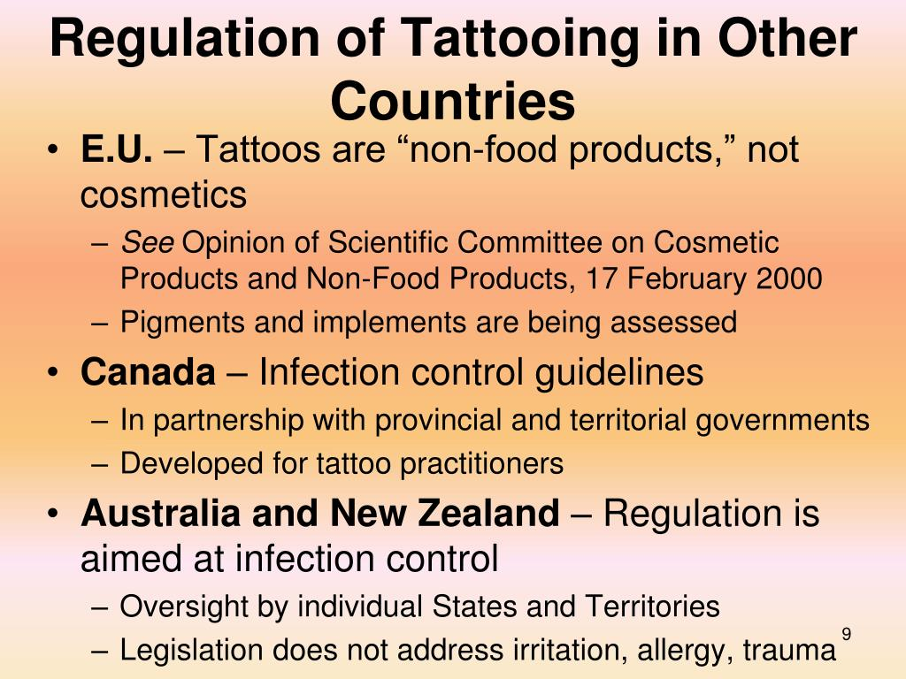 Regulation of Tattooing in Other Countries