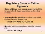 regulatory status of tattoo pigments