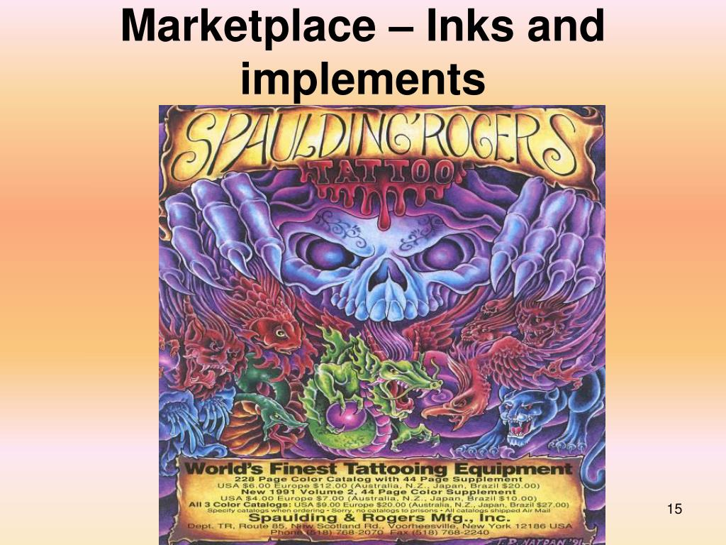 Marketplace – Inks and implements