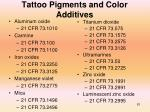 tattoo pigments and color additives81