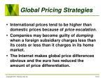 global pricing strategies19