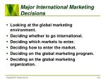 major international marketing decisions