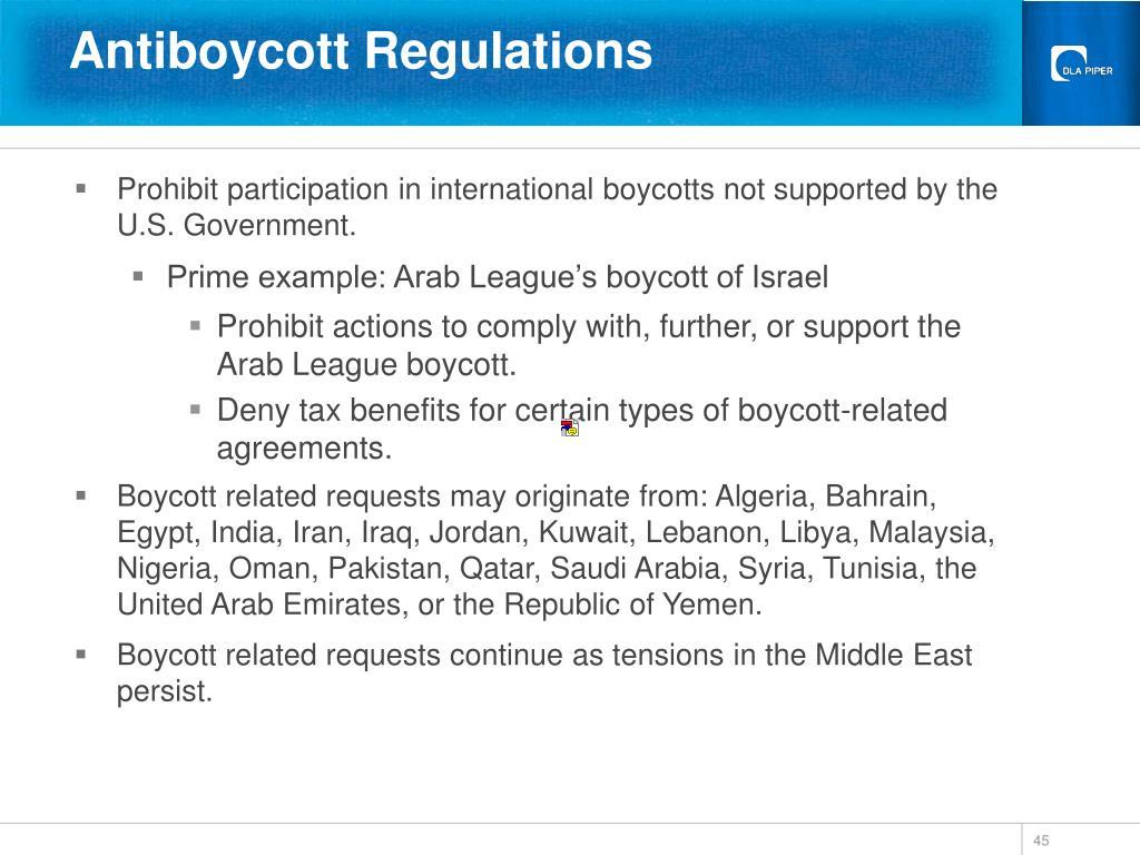 Antiboycott Regulations